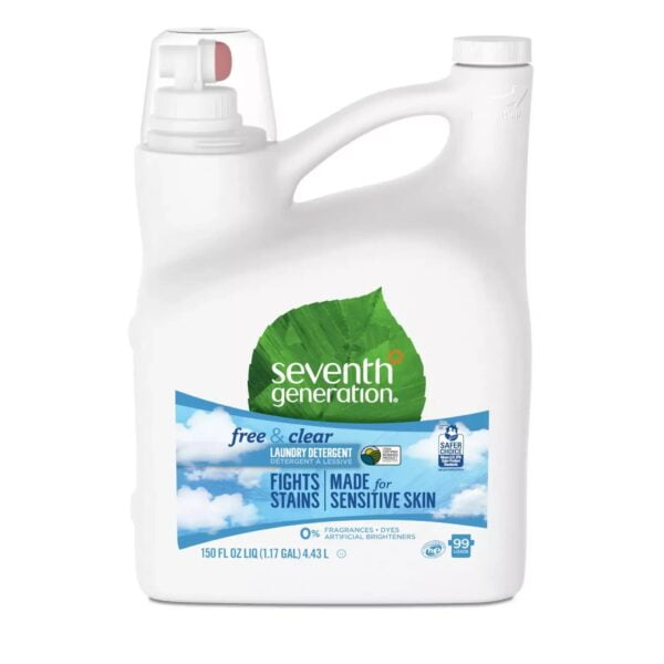 1108 Seventh Generation Natural Laundry Detergent – Free and Clear – 150 fl oz