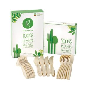 Repurpose Plant Base High Heat Utensils Set – 24 Count