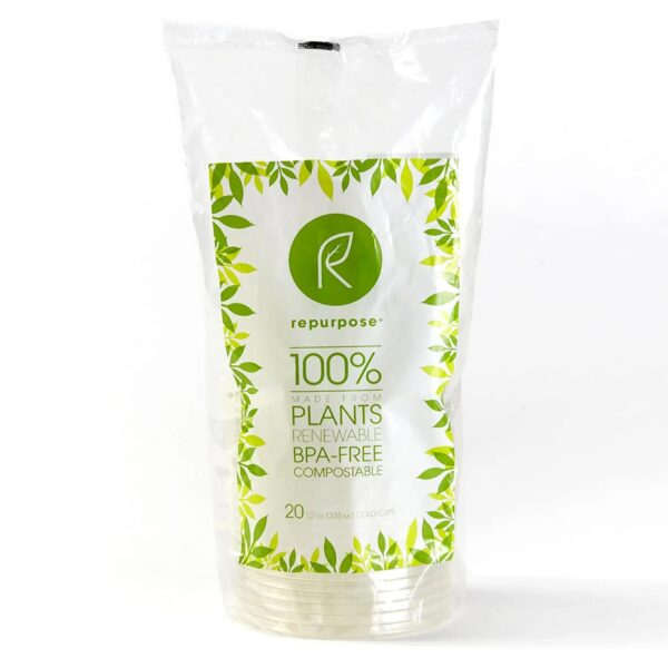 Repurpose Clear Compostable Cups - 20 Count