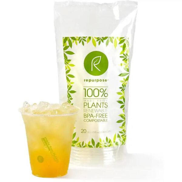 Repurpose 1118 Clear Compostable Cups 20 Count cup
