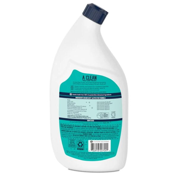 Seventh Generation 1101 Toilet Bowl Cleaner Emerald Cypress and Fir Back