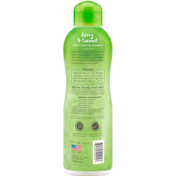 TropiClean 1137 Deep Cleaning Berry and Coconut Pet Shampoo back