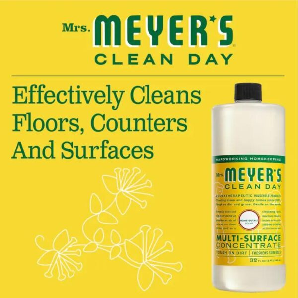 Cleans floors counters and surfaces
