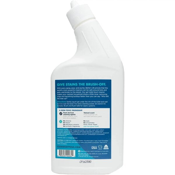 Better Life - Toilet Bowl Cleaner - 24 oz - Back