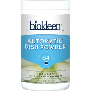Biokleen Auto Dish Powder - Free and Clear - 32 oz
