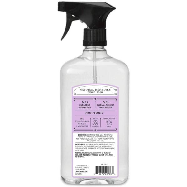 J.R. Watkins - All Purpose Cleaner - Lavender - 24 oz - Back