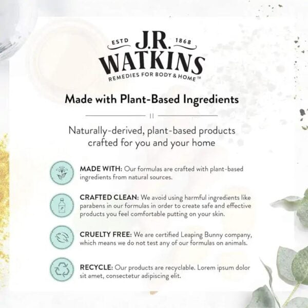 Made with plant based ingredients