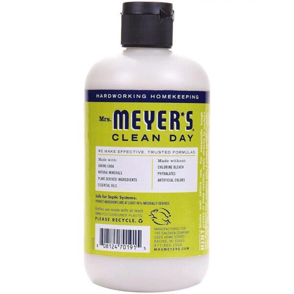 Mrs. Meyer's Clean Day - Cream Cleaner - Lemon - 12 Fl oz - back