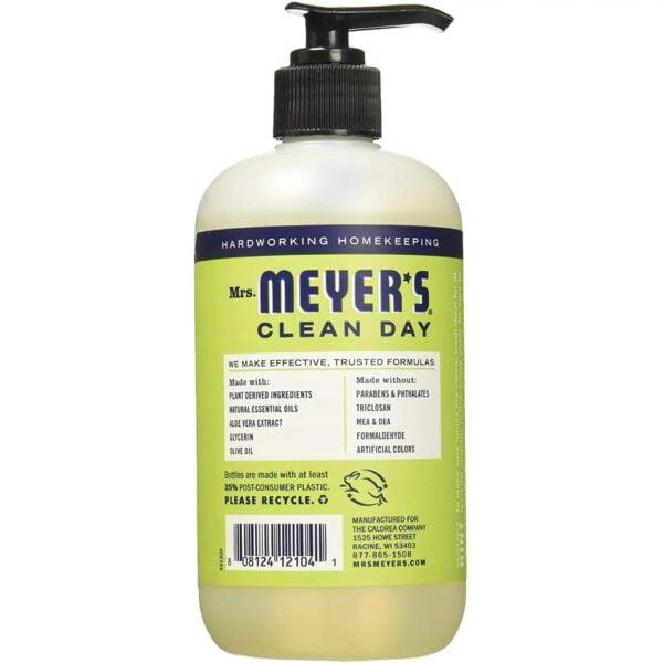 Mrs. Meyer's Clean Day - Liquid Hand Soap - Lemon Verbena - 12.5 oz back